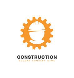 engineering or construction logo vector image