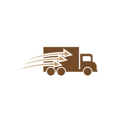 fast delivery truck icon design template isolated vector image