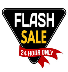 Flash sale label or sticker vector