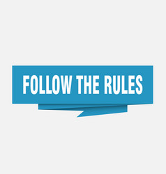 Follow the rules vector