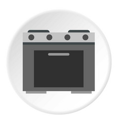 Gas stove icon circle vector