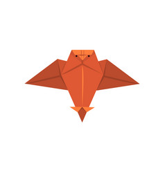 Geometric paper owl bird made in origami technique vector