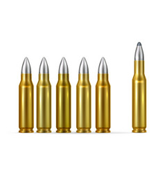 Gold bullets realistic composition vector
