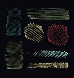 Grunge ink pen stroke set vector