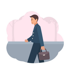 happy manager or office worker dressed in smart vector image