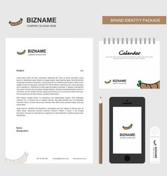 hot dog business letterhead calendar 2019 and vector image