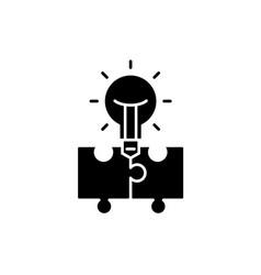 idea generation black icon sign on vector image