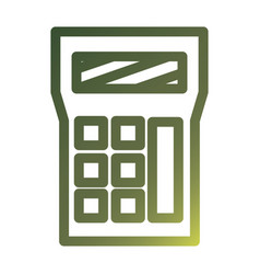Isolated calculator gradient style icon vector