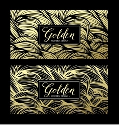 Luxury golden modern card vector