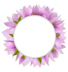 Magnolia circular frame vector