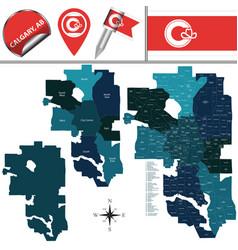 Map calgary with neighborhoods vector