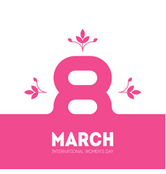 march 8 international womens day elegant greeting vector image