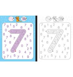 Maze number 7 vector