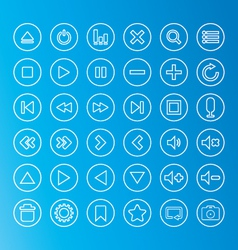 Media Icon line vector image