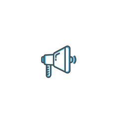 megaphone icon line design business icon vector image