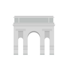 Milan arch icon flat style vector