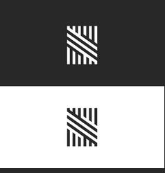 Modern hipster monogram s letter logo creative vector