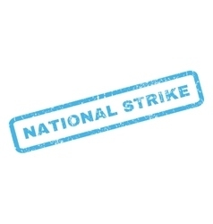 National Strike Rubber Stamp vector