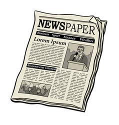 Newspaper pop art vector