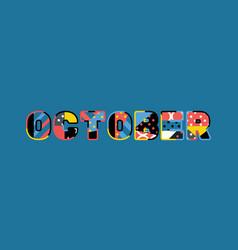 october concept word art vector image