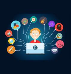 Online education concept vector