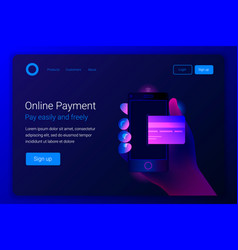 online mobile payment concept vector image