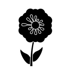 Pansy flower decoration pictogram vector