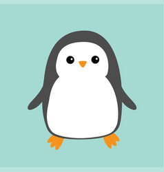 penguin cute cartoon character arctic animal vector image