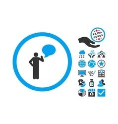 Person Idea Flat Icon With Bonus vector
