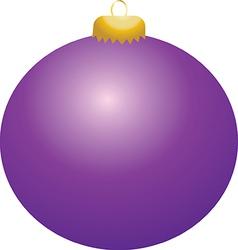 Purple Ball Ornament vector
