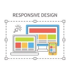 Responsive web design flat vector image