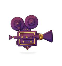 retro cinema projector vintage film camera vector image