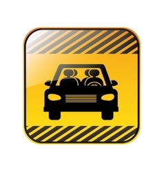 road sign square of car crossing vector image