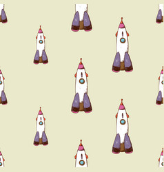 Rocket seamless pattern vector