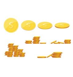 saving dollar coin in jar concept vector image