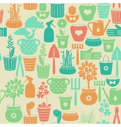 Seamless vintage background with flowers vector image
