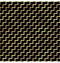 Seamless zigzag pattern golden fashion vector