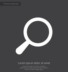 search premium icon white on dark background vector image
