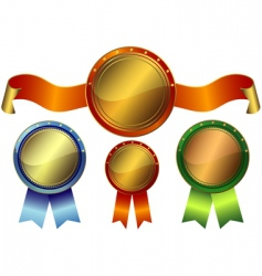 set metallic awards vector image
