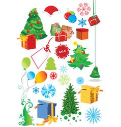 set of christmas vector image