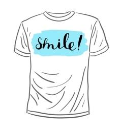 Smile Brush lettering vector image
