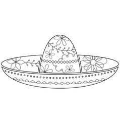 Sombrero coloring vector