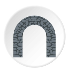 Stone arch icon flat style vector image