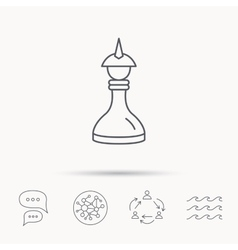 Strategy icon Chess queen or king sign vector image