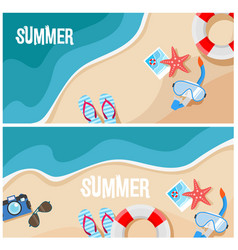 summer beach top view vector image