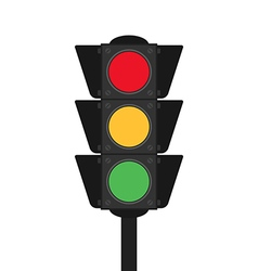 Traffic light flat design isolated vector