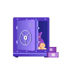 Unlocked open safe icon in flat design vector