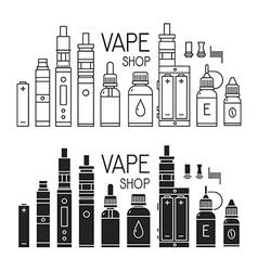 Vape icons set vector image