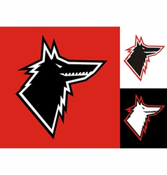 Wolf head icon vector