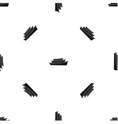 wooden boat pattern seamless black vector image